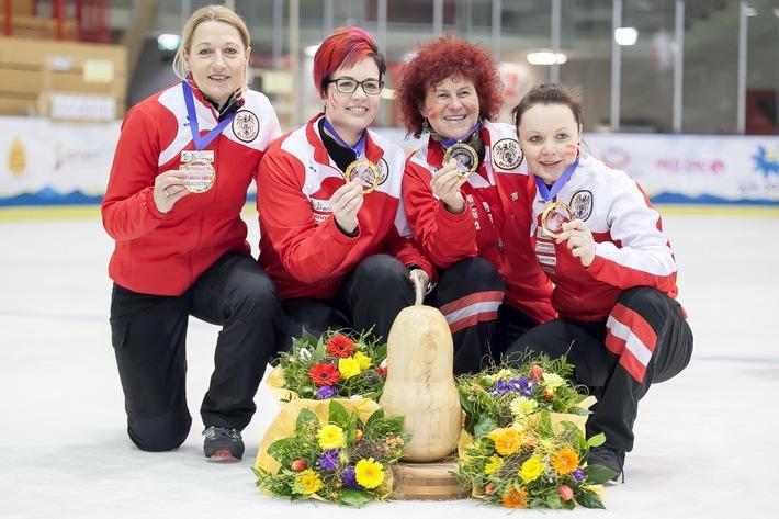 BILD zu OTS - Im Zielwettbewerb Damen Teamwertung kürte sich Österreich zum Weltmeister