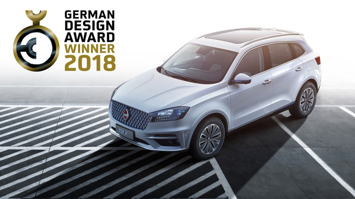 "Top German authority for brand and design ""German Design Council"" has once again honored a product from Borgward. The Borgward BXi7, an all-electric concept SUV, has won the German Design Award for 2018 as previously three other Borgward models Borgward BX7, Borgward BX5 and BX6 SUV coupe concept. Weiterer Text über ots und www.presseportal.de/nr/115998 / Die Verwendung dieses Bildes ist für redaktionelle Zwecke honorarfrei. Veröffentlichung bitte unter Quellenangabe: ""obs/BORGWARD Group AG"""