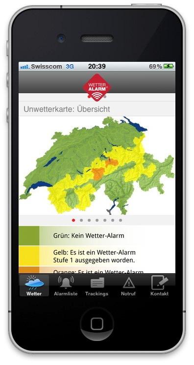 Allarme-Meteo, il servizio gratuito di allarme contro il maltempo, da oggi anche come app per iPhone