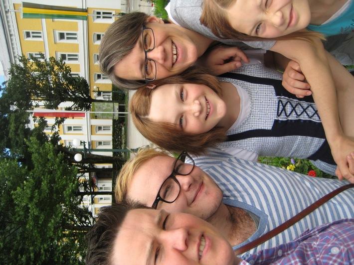 Familie Arnemann mit Gastsohn Jesse aus den USA.