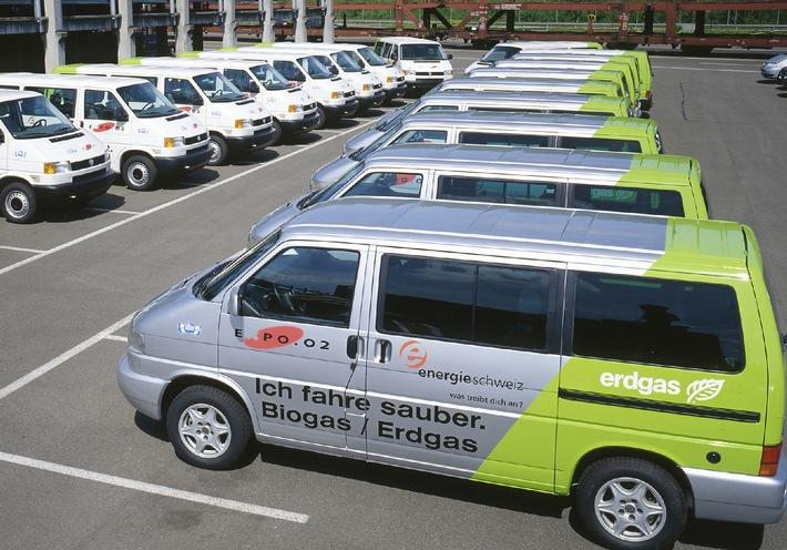 Dank Expo.02-Gasautos 25 Tonnen weniger CO2