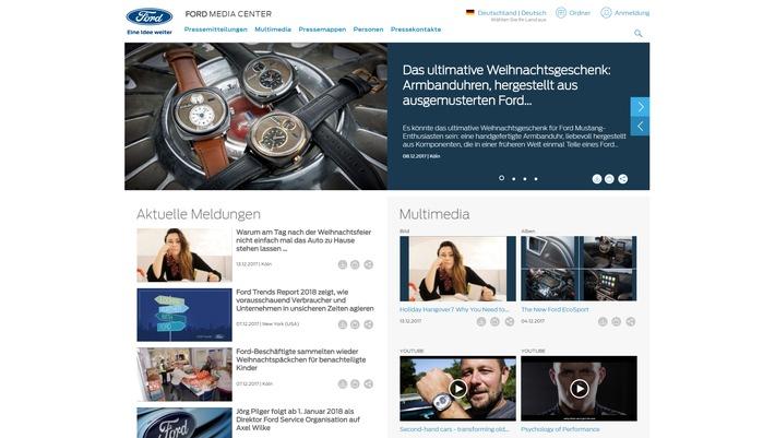 Neues Ford Media Center im Internet: direkter Zugang zu aktuellen Informationen, Bildmaterial und Pressemappen