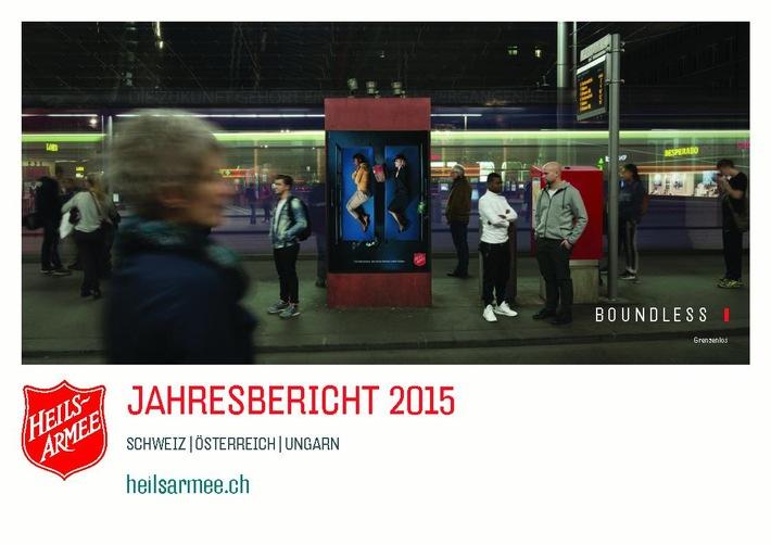 """Jahresbericht 2015 """"Boundless"""" - die Heilsarmee hilft grenzenlos"""