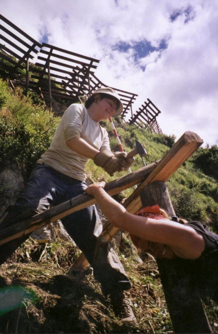 Arbeitseinsatz im Bergwald als aktiver Hochwasserschutz