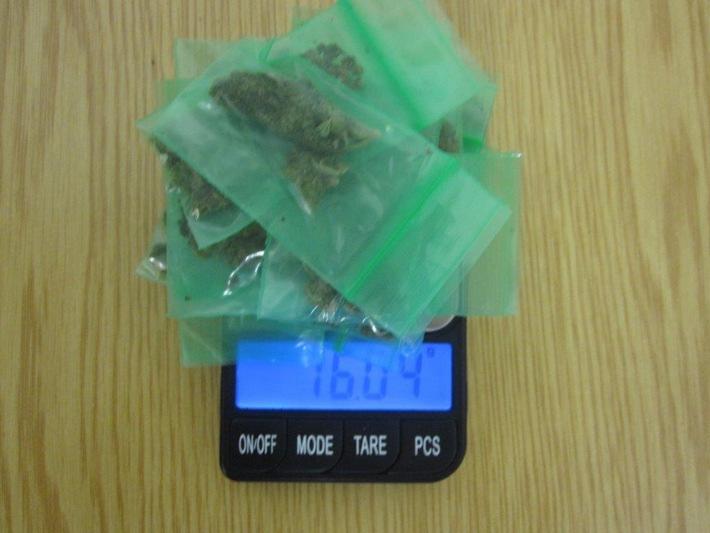 Festgestellte und beschlagnahmte Drogen