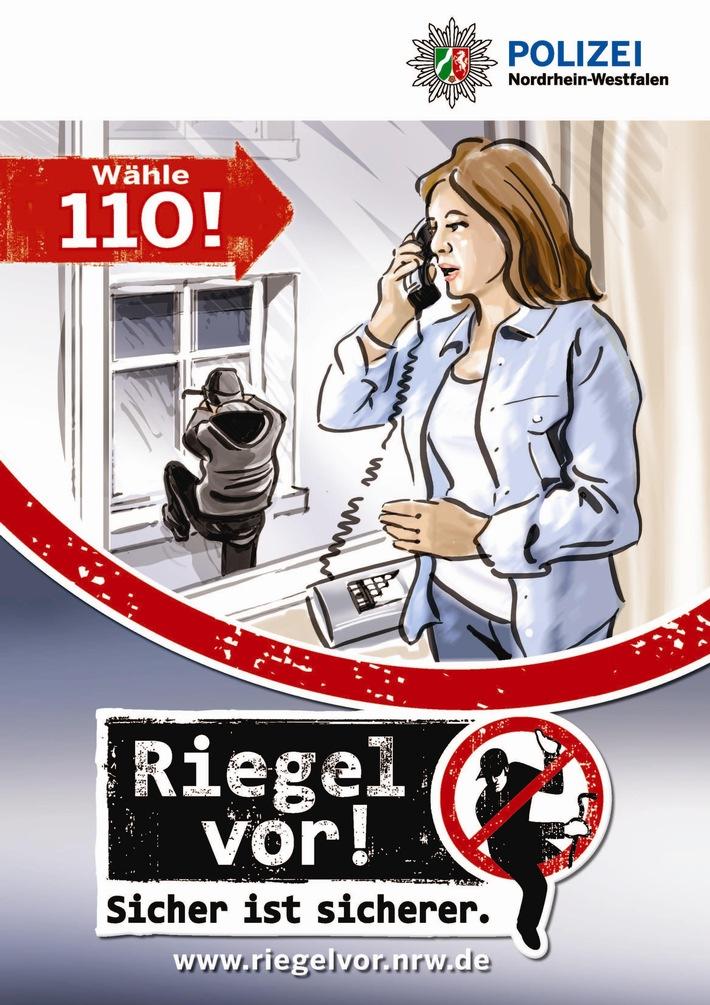POL-VIE: Schwalmtal-Amern: Nachbarin beobachtet Einbrecherin und reagiert mit Notruf 110 richtig