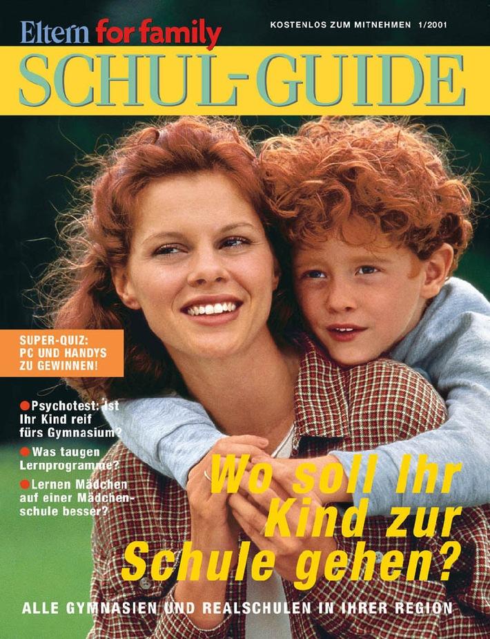 """Zeitschrift ELTERN for family startet """"Schul-Guide"""""""