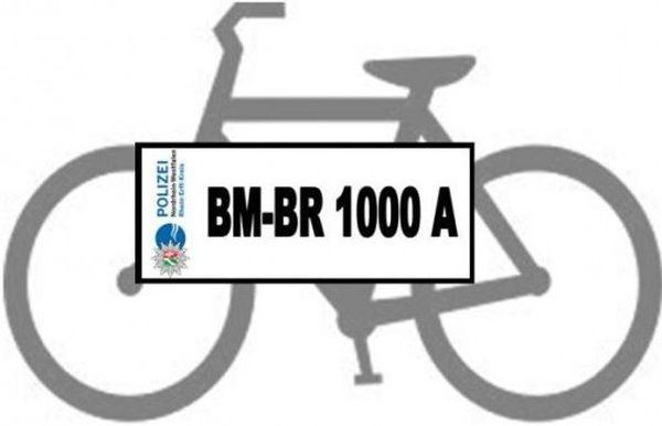 """Symbolbild """"Kein Fahrrad ohne Kennzeichen"""""""