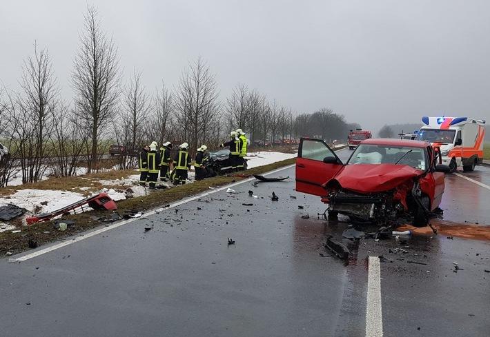 POL-HST: Schwerer Verkehrsunfall auf der B 105 bei Kirchdorf