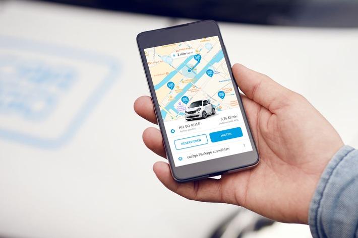 """Elektro-Pilot: car2go ergänzt seine Hamburger Flotte um fünf elektrische smart EQ. 15 neue Mercedes-Benz A-Klassen komplettieren das Angebot. Weiterer Text über ots und www.presseportal.de/nr/115255 / Die Verwendung dieses Bildes ist für redaktionelle Zwecke honorarfrei. Veröffentlichung bitte unter Quellenangabe: """"obs/car2go Group GmbH"""""""
