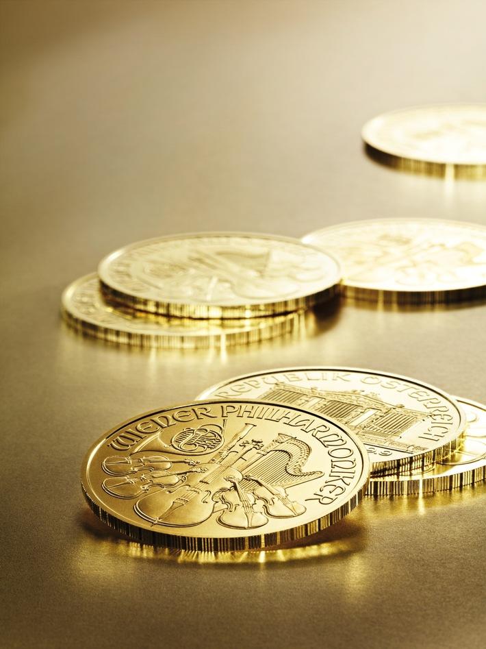 BILD zu OTS - Der Wiener Philharmoniker war im vergangenen Jahr wieder die meistverkaufte Goldmünze der Welt.