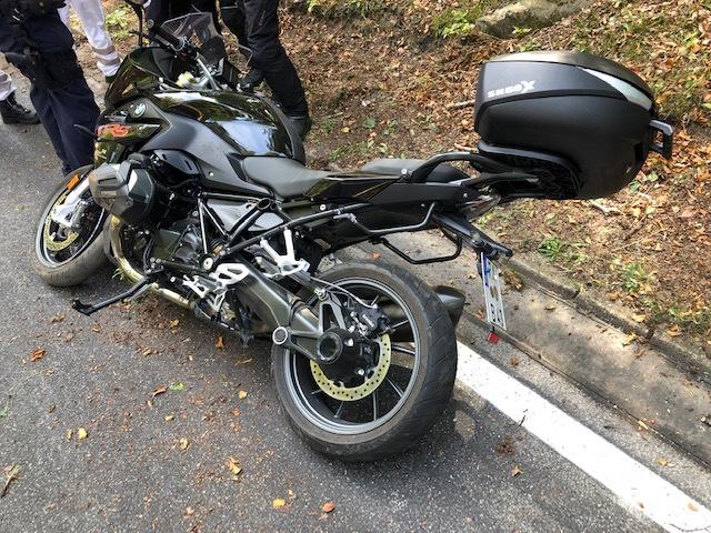 Bild vom verunfallten Motorrad