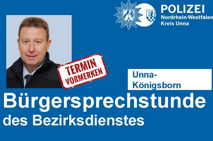 Bezirksbeamter Horst Kleinert bietet Bürgersprechstunde in Unna-Königsborn an