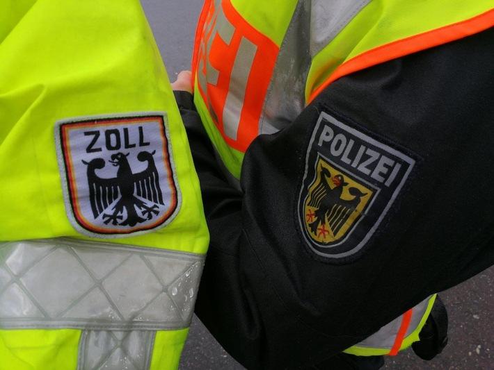 Gemeinsamer Fahndungseinsatz von Bundespolizei und Zoll Bild: Bundespolizei