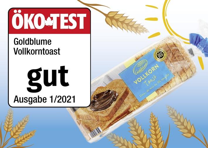 Im Vergleich zu den zahlreichen anderen Toastbroten im Test schnitt das Vollkornbrot von GOLDBLUME mit dem Prädikat