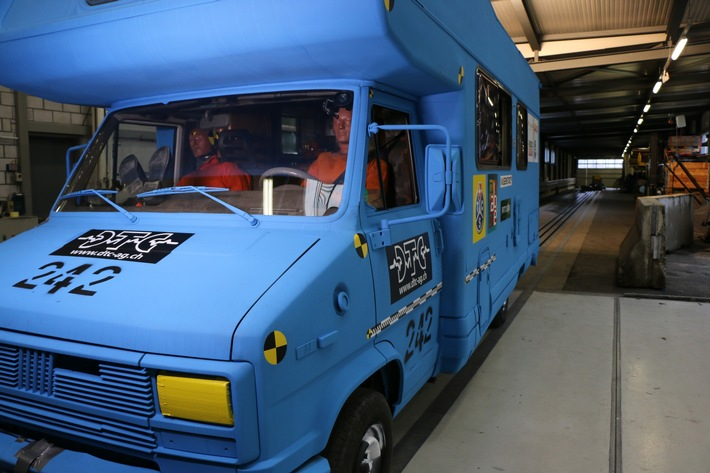 Camper: crash-test con conseguenze preoccupanti