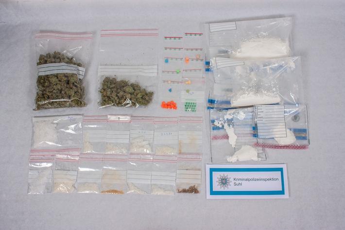 LPI-SHL: Kriminalpolizei findet große Mengen Betäubungsmittel