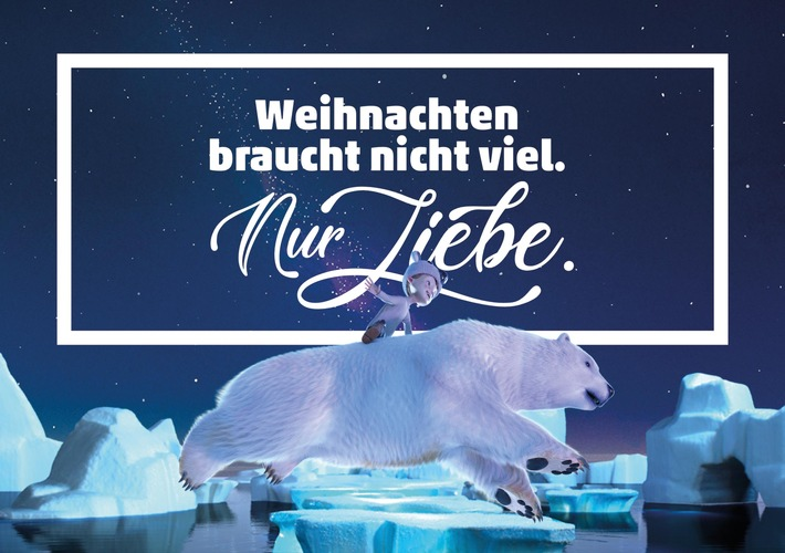 """PENNY Weihnachtskampagne 2018: Weihnachten braucht nicht viel. Nur Liebe. Weiterer Text über ots und www.presseportal.de/nr/59659 / Die Verwendung dieses Bildes ist für redaktionelle Zwecke honorarfrei. Veröffentlichung bitte unter Quellenangabe: """"obs/PENNY Markt GmbH"""""""
