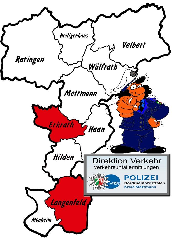 POL-ME: Verkehrsunfallfluchten aus dem Kreisgebiet - Erkrath / Langenfeld - 1707150