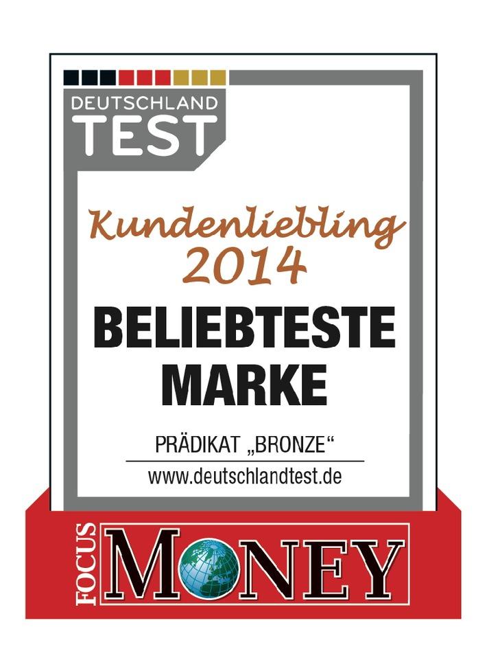 """Swiss Life Deutschland als """"Kundenliebling 2014"""" ausgezeichnet"""