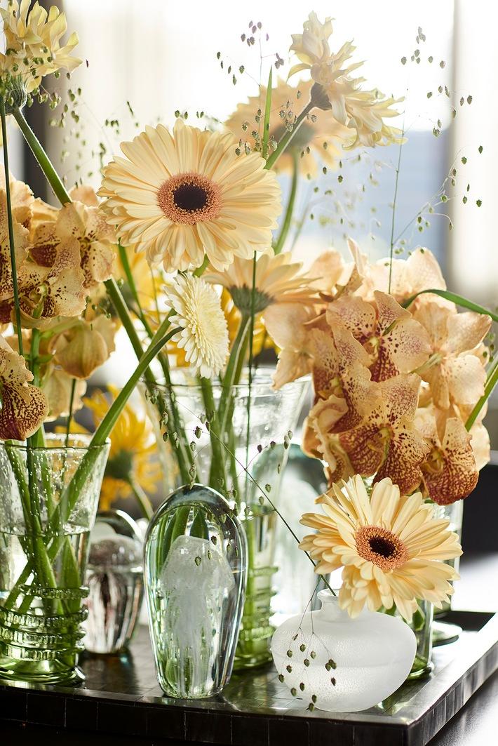 Mit Farb- und Formenreichtum in den Frühling - Vielfältigkeit der Gerbera belebt Vintage-Interieur