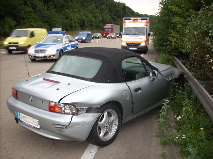 POL-HI: BAB 7, LK Hildesheim -- Eine Verletzte nach Verkehrsunfall