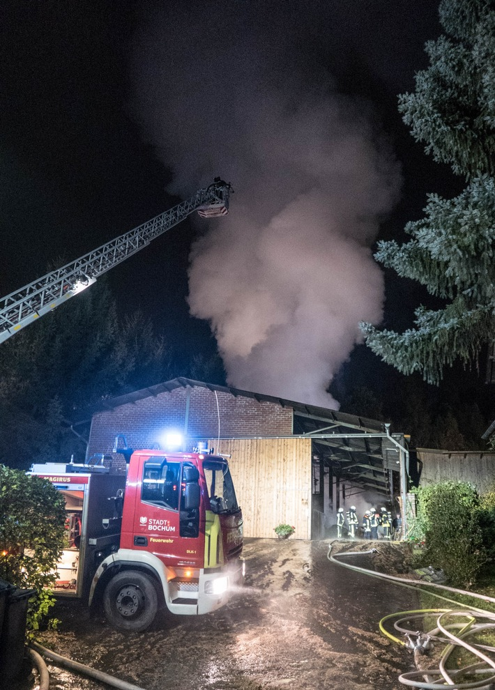 FW-BO: Scheunenbrand in Stiepel - 2. Update