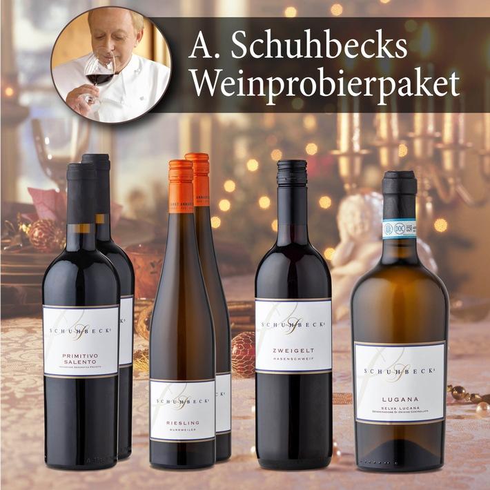 """Promi-Koch Alfons Schuhbeck ist nicht nur für sein Essen bekannt. Seine Weinauswahl rundet jede Speise ab. Im NORMA24-Begrüßungspaket gibt es sechs Flaschen für nur 39 Euro. Weiterer Text über ots und www.presseportal.de/nr/62097 / Die Verwendung dieses Bildes ist für redaktionelle Zwecke honorarfrei. Veröffentlichung bitte unter Quellenangabe: """"obs/NORMA"""""""