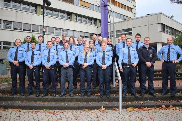POL-PDMT: Montabaur: Polizeidirektor Christof Weitershagen begrüßt 21