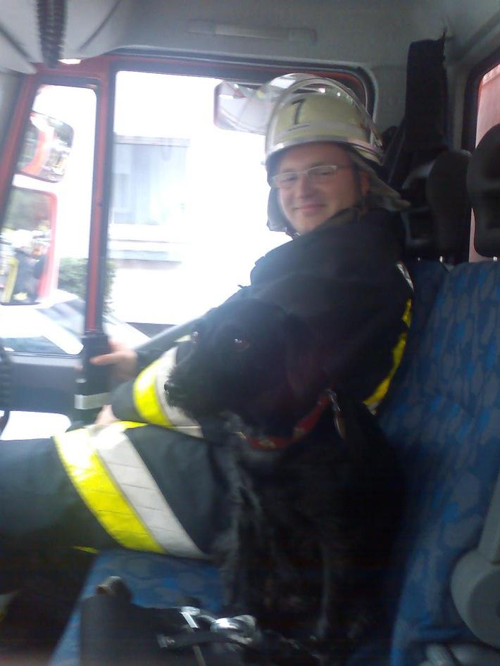 FW-E: Wohnungsbrand- Feuerwehr rette einen Mann und seinen Hund