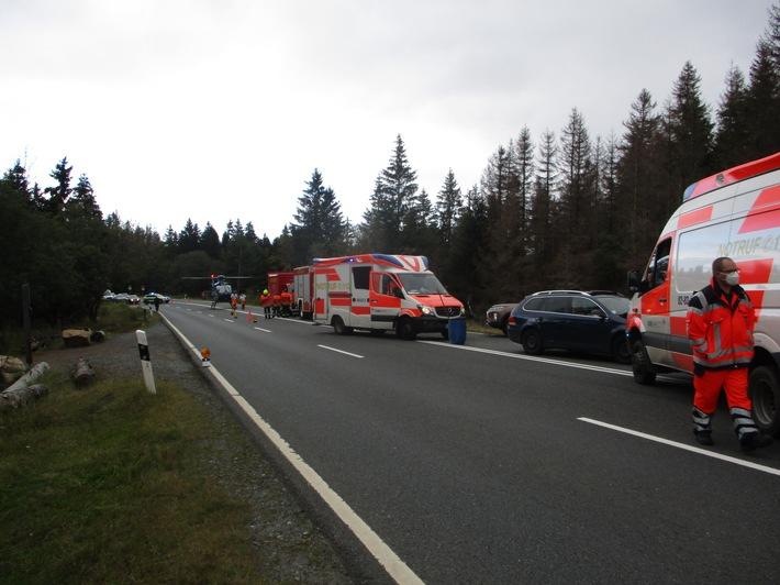 POL-GS: Verkehrsunfall mir drei verletzten Personen