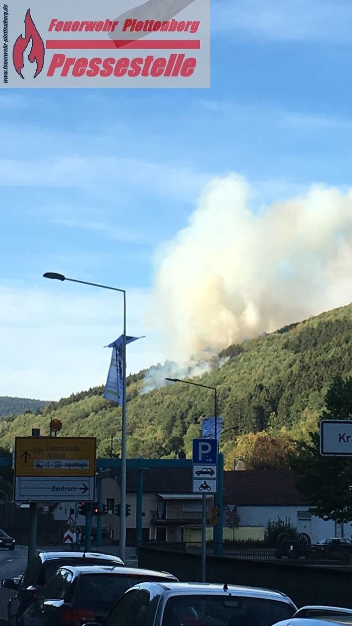 Waldbrand in Plettenberg ist gelöscht