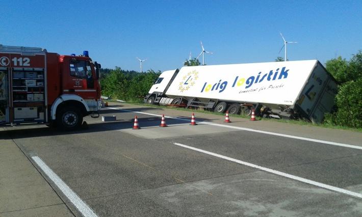 POL-PPTR: Verkehrsunfall mit Lkw