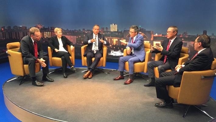 NDR und chinesisches Fernsehen mit gemeinsamer Sendung zu G20