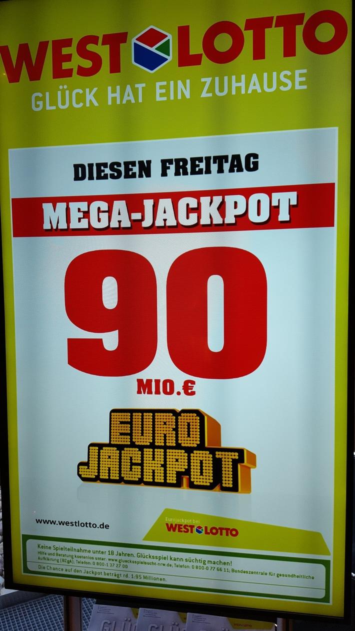 """Kommenden Freitag warten 90 Millionen Euro bei der Lotterie Eurojackpot. Weiterer Text über ots und www.presseportal.de/nr/107909 / Die Verwendung dieses Bildes ist für redaktionelle Zwecke honorarfrei. Veröffentlichung bitte unter Quellenangabe: """"obs/Eurojackpot/Bodo Kemper"""""""