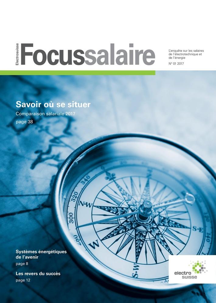 """Avec sa nouvelle étude sur les salaires « Focus Salaire Electrosuisse », Electrosuisse assure plus de transparence dans la branche de l'électrotechnique et l'énergie aussi bien pour les employés que pour les employeurs. Texte complémentaire par ots et sur www.presseportal.ch/fr/nr/100005499 / L'utilisation de cette image est pour des buts redactionnels gratuite. Publication sous indication de source: """"obs/Electrosuisse"""""""