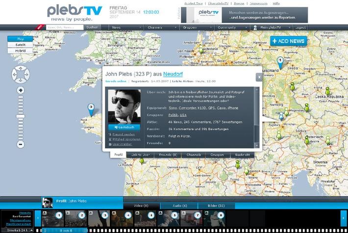 Beta-Version von plebsTV - news by people - geht an den Start
