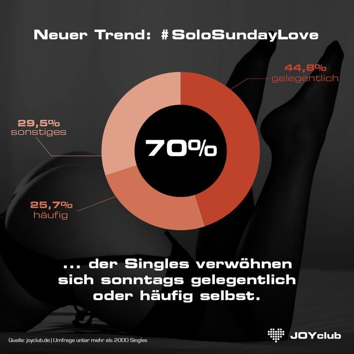 """Immer mehr Singles zelebrieren den Sonntag erotisch: Alleine / Neuer Trend """"Solo Sunday Love"""""""