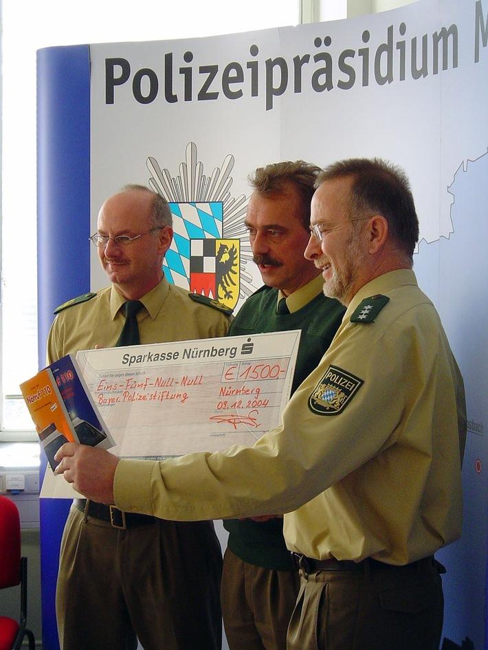 POL-MFR: (1535) Bayerische Polizeistiftung erhielt 10.000 Euro gespendet