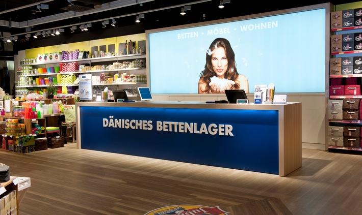 Counter in einem City-Store von DÄNISCHES BETTENLAGER