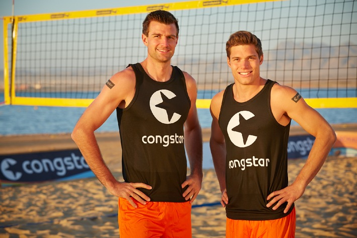 Neue Formation in der Saison 2014: Beach-Volleyball-Profis Becker/Romund starten als congstar Beachteam