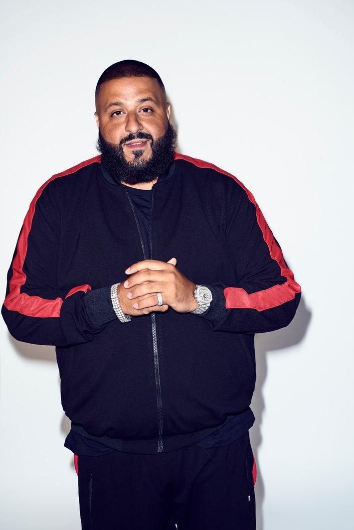 """US-Superstar DJ Khaled ist neuer Social-Media-Botschafter von Weight Watchers. WeightWatchers.com. Weiterer Text über ots und www.presseportal.de/nr/43545 / Die Verwendung dieses Bildes ist für redaktionelle Zwecke honorarfrei. Veröffentlichung bitte unter Quellenangabe: """"obs/Weight Watchers (Deutschland) GmbH"""""""