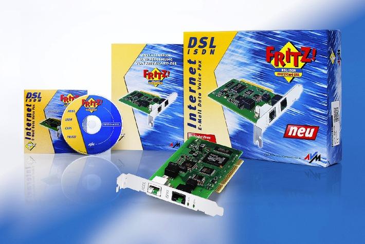CeBIT 2002 - FRITZ!Card DSL erfolgreich gestartet