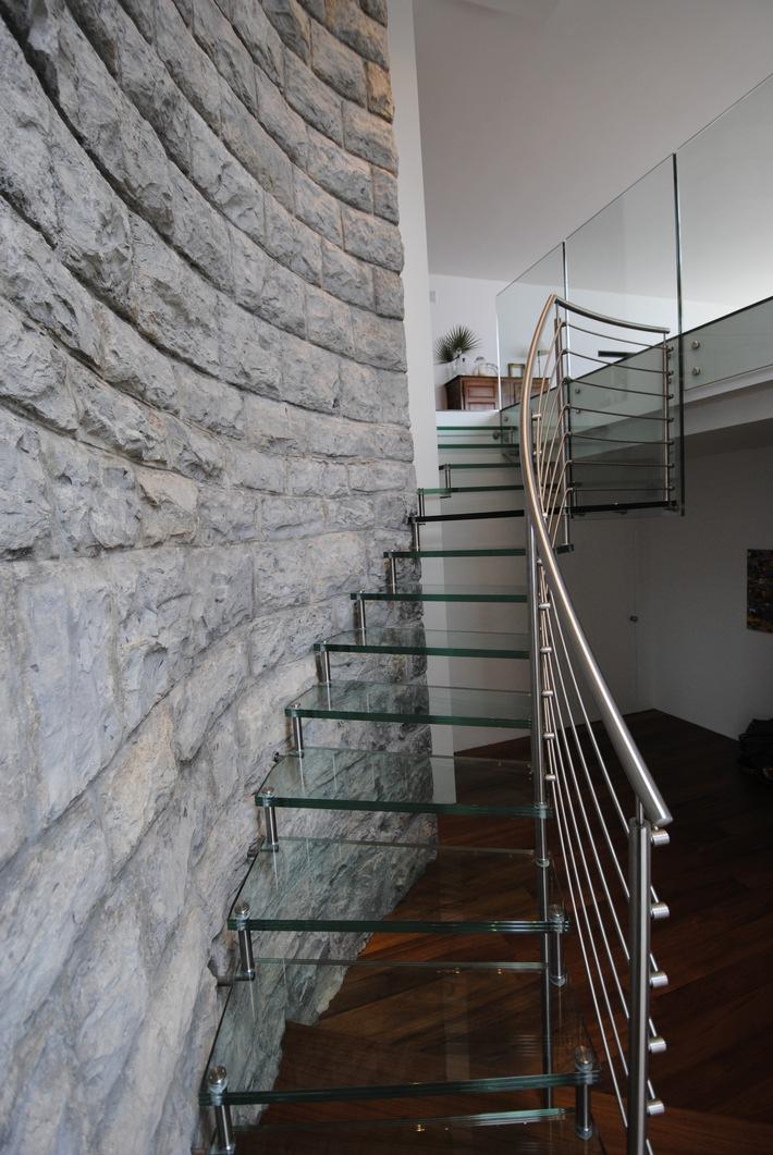 Glanzender Aufstieg Treppengelander Aus Edelstahl Rostfrei