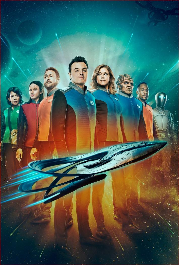 in Serienpower (1): ProSieben fliegt mit der neuen Sci-Fi-Serie The Orville von Family Guy-Macher Seth MacFarlane schräg ins All