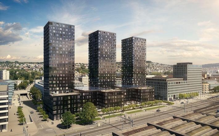 Les premiers clients sont attendus pour le mois de novembre: le tout premier a-ja City-Resort  de Suisse au sein du complexe Vulcano d'Altstetten, un quartier de Zurich en plein essor. (photo: Swiss Interactive AG)