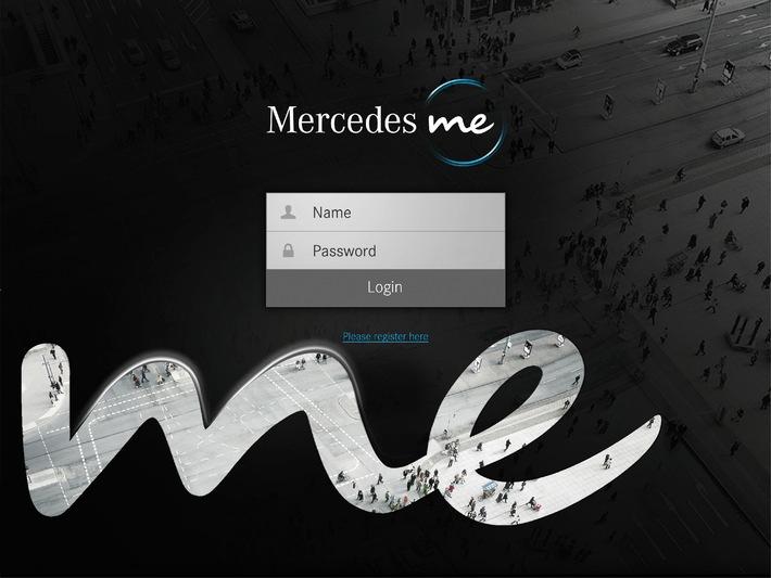 """Beispielbild der digitalen Plattform Mercedes me. Weiterer Text ueber OTS und auf https://www.presseportal.ch. Die Verwendung dieses Bildes ist fuer redaktionelle Zwecke honorarfrei. Veröffentlichung unter Quellenangabe: """"OTS.Bild/Mercedes-Benz Schweiz AG""""."""