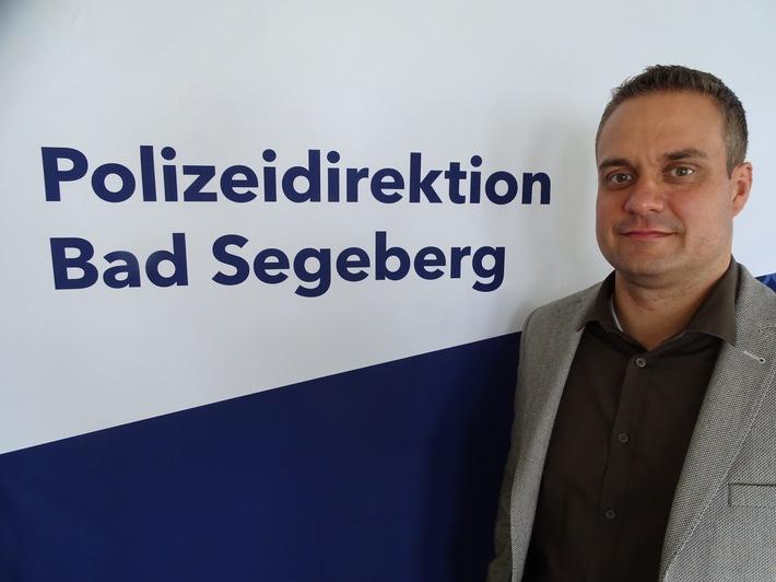 POL-SE: Kreise Segeberg und Pinneberg - Neuer Leiter der Kriminalinspektion Bad Segeberg