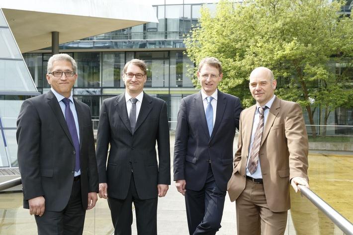 (v. l.) Michael Seufert, Frank Schwope, Volker Sack und Holger Fechner. Foto: Janko Woltersmann