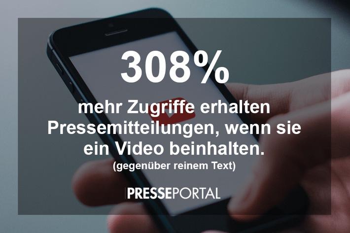 BLOGPOST: Pressemitteilungen mit Video erzielen 308 Prozent mehr Zugriffe als reiner Text